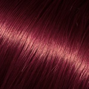 Barevné pramínky pro prodloužení vlasů, vínová, 50-60cm VEHEN s.r.o.